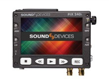 Sound Devices PIX 220 and PIX 240 video recorders add Quicktime recording using Apple ProRes or Avid DNxHD to any HDMI-or HD-SDI equipped high-definition video camera. The portable PIX 220 (HDMI-only) and its sibling the PIX 240 (HDMI and HD-SDI) record Quicktime files to CompactFlash cards or removable 2.5-inch solid-state hard drives. The PIX 220 and PIX 240 include a generous 5-inch, matte finish, 800x480 pixel LCD display. The display is essential in the field and provides immediate confirmation of recording, playback, audio metering, and Setup Menu selections.