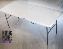 White 6ft Folding Table