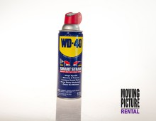 WD-40 is the trademark name of a penetrating oil and water-displacing spray. The spray is manufactured by the San Diego, California based WD-40 Company.
